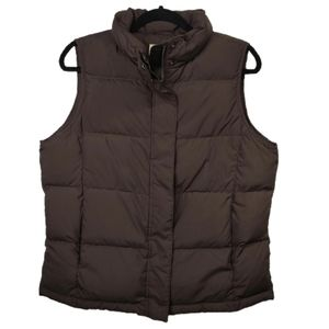 L.L. Bean Goose Down Filled Puffer Vest Brown M
